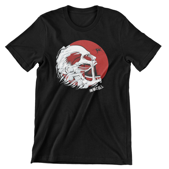 Tricou negru Attack on Titan Battle