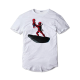 Tricou Alb Deadpool and Spiderman - inKing.ro