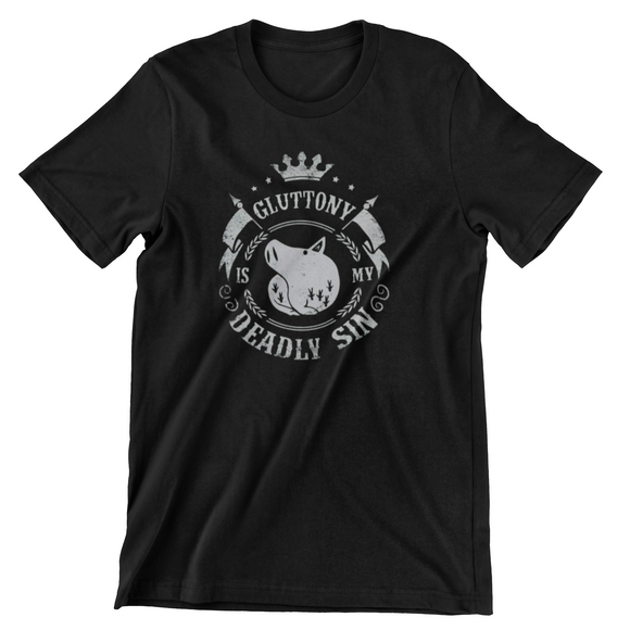 Tricou negru Seven Deadly Sins Gluttony is my Sin
