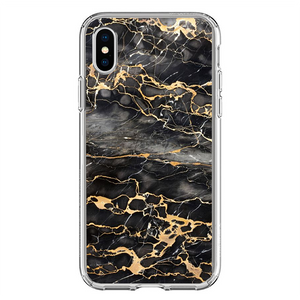 Husa iPhone X Gold Marble