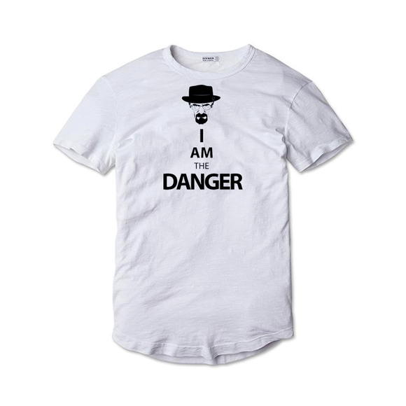 Tricou alb Breaking Bad I am the Danger