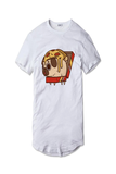 Tricou Alb Pizza Pug - inKing.ro
