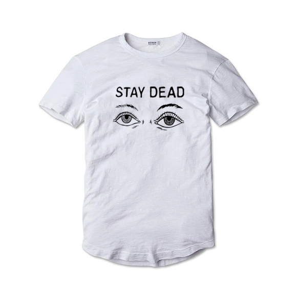 Tricou Alb Stay Dead - inKing.ro