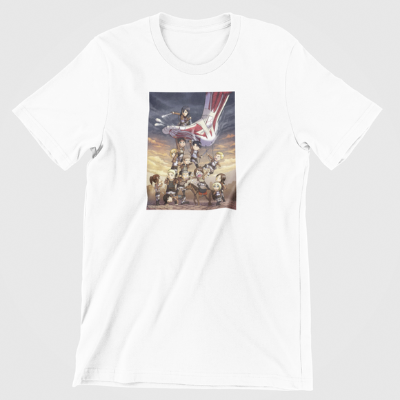 Tricou alb Attack on titan Step