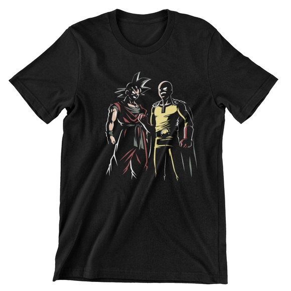 Tricou negru One Punch Man Strongest in the World