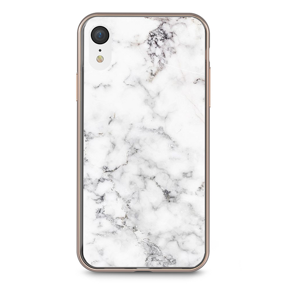 Husa iPhone XR White Marble
