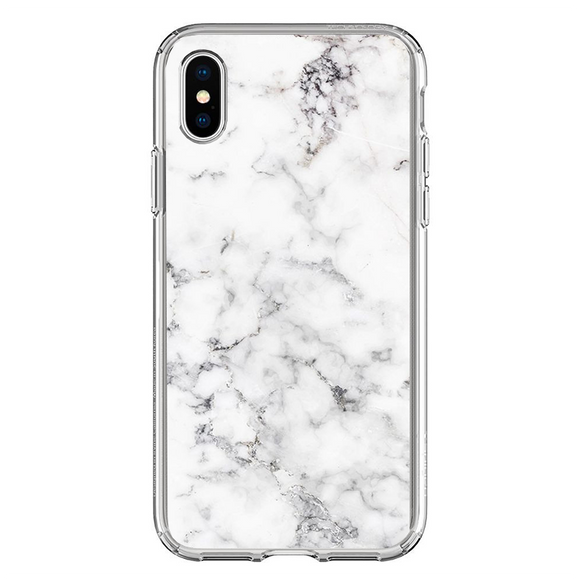 Husa iPhone X White Marble
