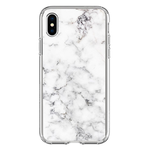 Husa iPhone XS White Marble - inKing.ro