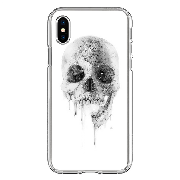 Husa iPhone X White Skull