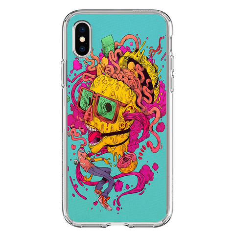 Husa iPhone XS Zombie Brain - inKing.ro
