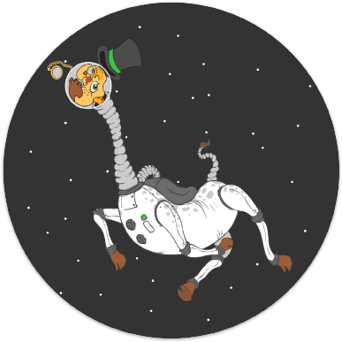 Giraffe in Space Sticker