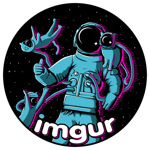 Greetings From Imgur Sticker