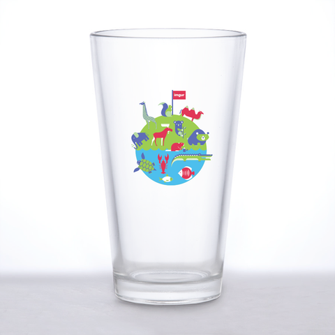 Traveling Flag Pint Glass