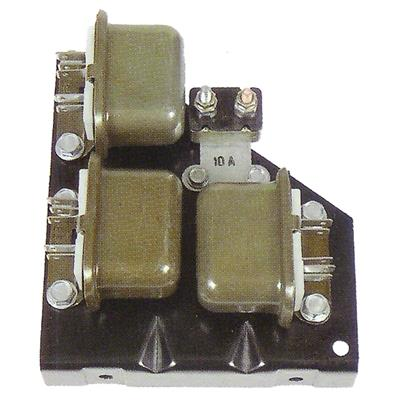 RELAY MOUNT PLATE ASSEMBLY; INCLUDES PLATE; CORRECT RELAYS & BREAKER; 67 CAMARO RS GMK4020067678S