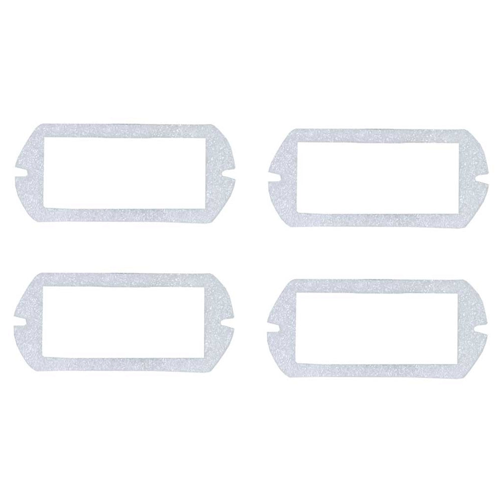 SIDE MARKER BEZEL GASKETS; FRONT OR REAR; SET OF 4; 69 MUSTANG; COUGAR; 69-70 SHELBY GMK302214269S