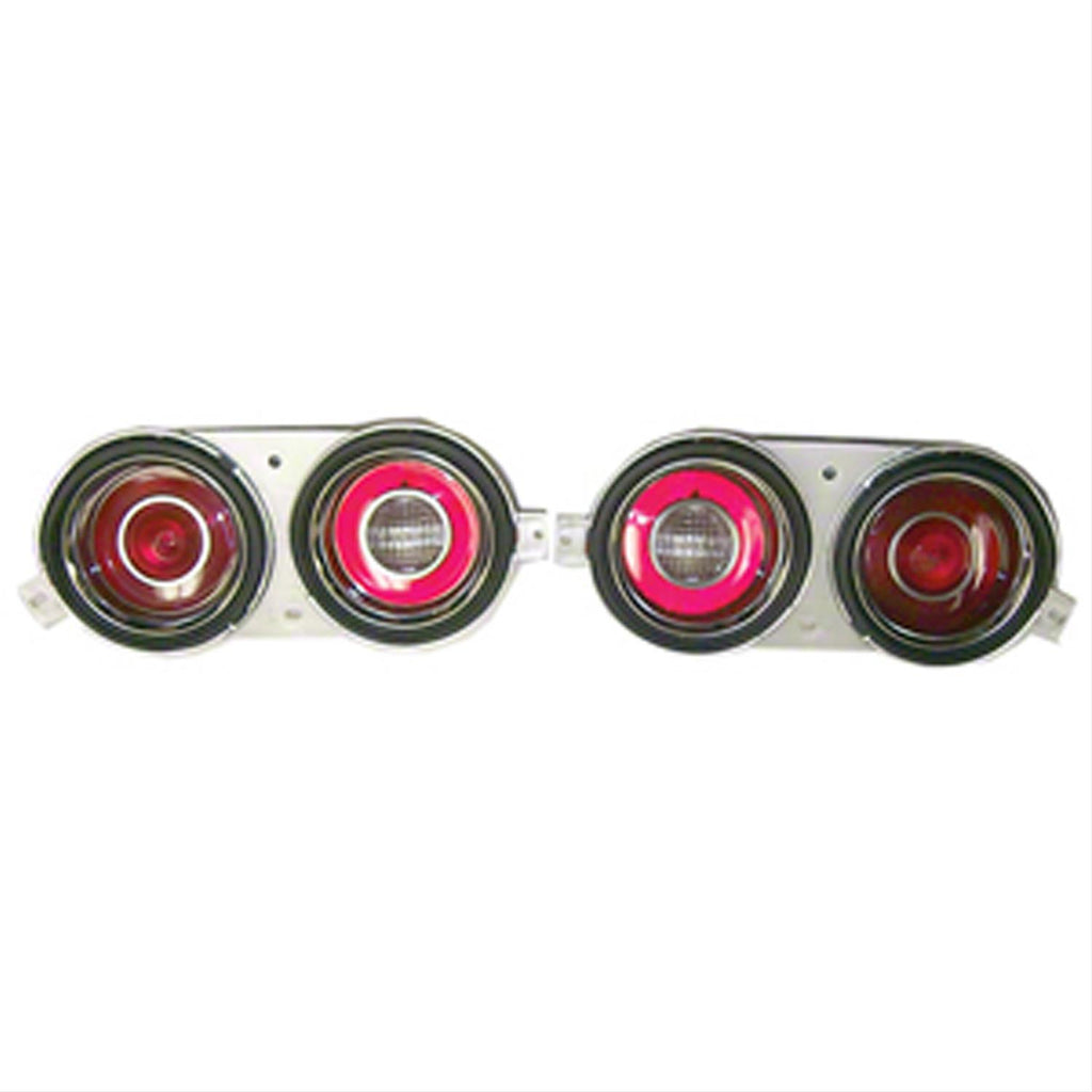 TAIL LAMP COMPLETE ASSEMBLY; LH/RH PAIR; WITH PILLOW OPTICS ON BACK-UP LAMP; 71-73 CAMARO [RS MODELS ONLY] GMK4021842712S