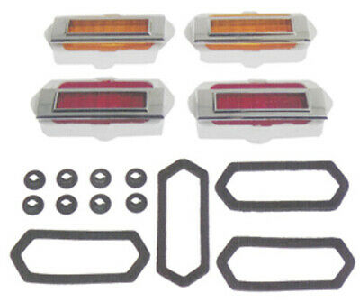 SIDE MARKER COMPLETE SET; 8-PIECES; 69 CAMARO [4 MARKERS; 4 BEZEL; GASKETS; & HARDWARE] GMK402090569S