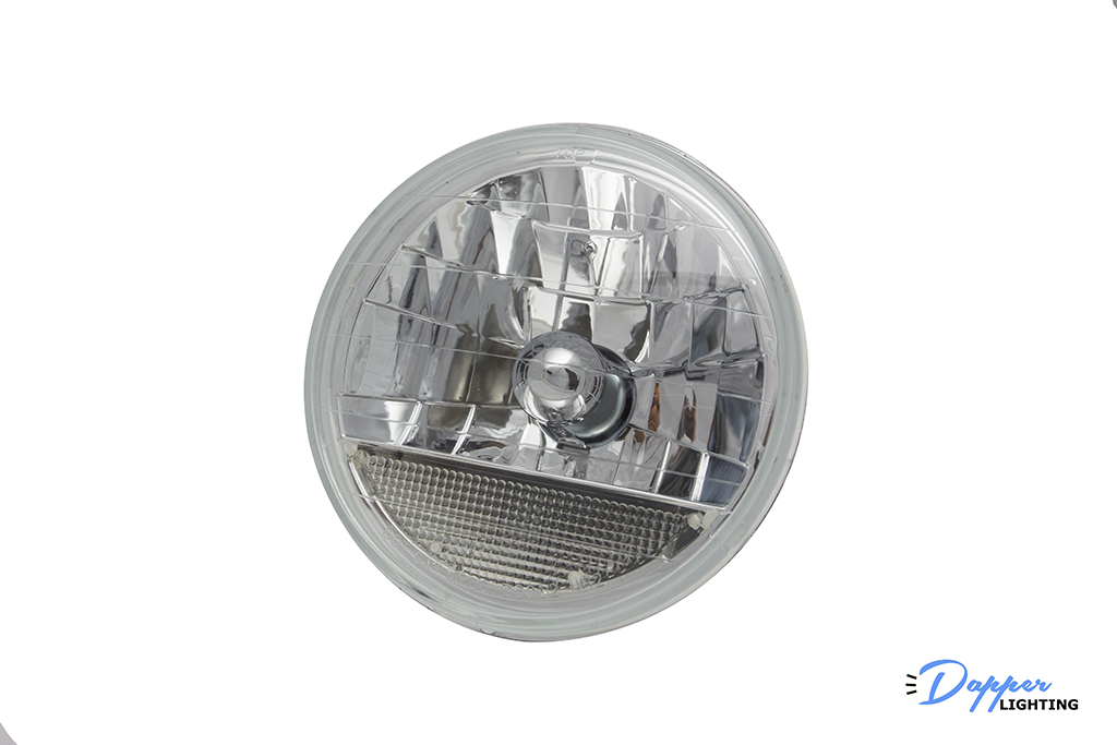 7 Inch Round Diamond-Cut Headlight w/Turn Signal