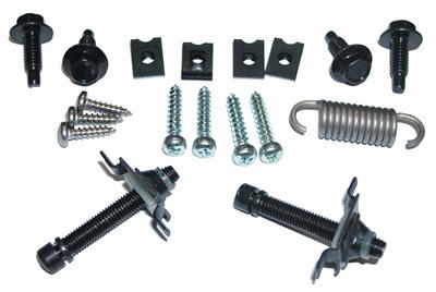 HEADLAMP ADJUSTING HARDWARE KIT; INCLUDES SCREWS; SPRINGS; CLIPS & NUTS; USE 2 PER CAR; 64-66 MUSTANG GMK302006964S