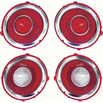 TAIL LAMP LENS COMPLETE SET; 70-71 CAMARO; RS MODELS ONLY GMK4021845702S