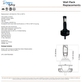 17W Low Voltage Wall Pack (Bulb Replacement)