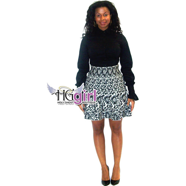 Knit Mosaic Skater Skirt