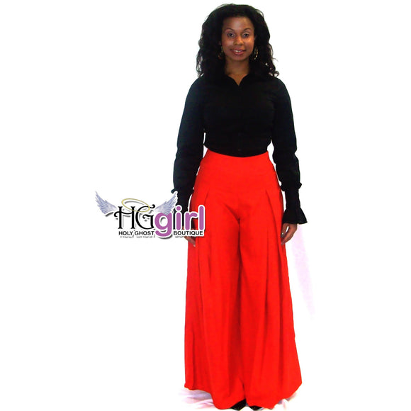 High Waist Wide Leg Slacks