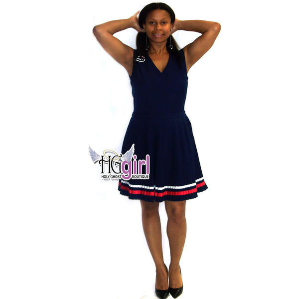 Pleated Patriot Dress