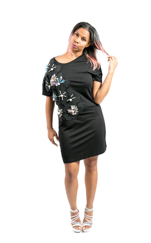 Dimensional T-Shirt Dress