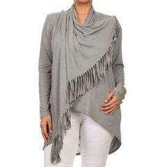Cross Body Fringe Blouse