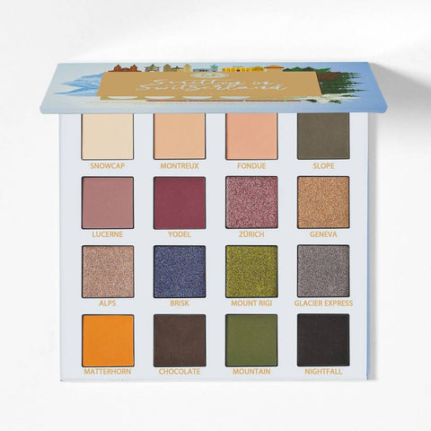 Minoustore BH Cosmetics Smitten in Switzerland 16 Color Eyeshadow Palette