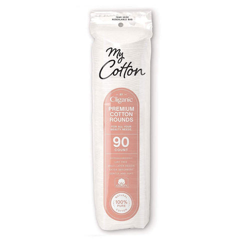 Minoustore cliganic cotton rounds 90 count