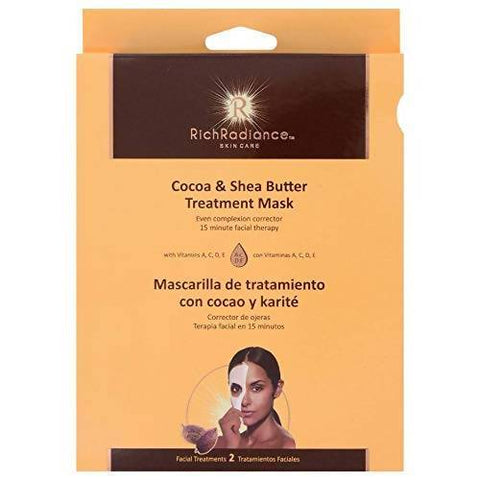 Minoustore Cocoa & Shea Butter Treatment Facial Mask by RichRadiance , (2 Pack)