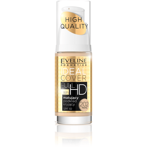 Minoustore IDEAL COVER FULL HD MATT AND COVERING FOUNDATION  NO 202 PASTEL 30ML