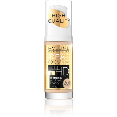 Minoustore IDEAL COVER FULL HD MATT AND COVERING FOUNDATION NO201 30ML