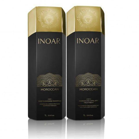 Minoustore Inoar Morrocan Treatment Brazilian Blow Dry Treatment 1 Litre x 2