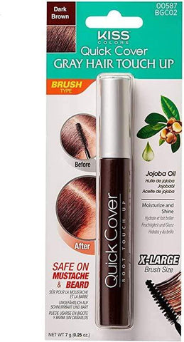 Minoustore Kiss Colors Quick Cover Gray Hair Touch Up Brush Dark Brown