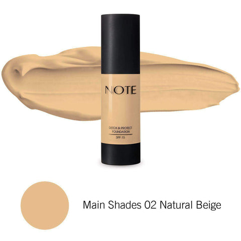 Minoustore NOTE Detox & Protect Foundation 02 Natural Beige