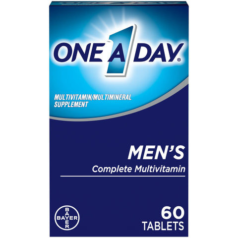 Minoustore One A Day Men's Multivitamin Tablets, Multivitamins for Men, 60 Count