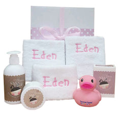 Girl's Baby Face Personalised Bath Pack