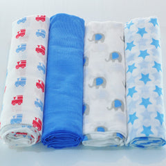 Muslin Baby Boy Swaddle Wraps Blue