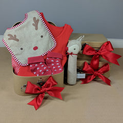 Little Red Reindeer Christmas Baby Hamper