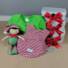 Girls Elf Baby Gift Christmas Hamper