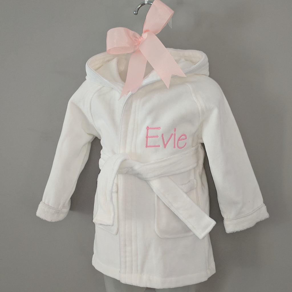Boy's & Girl's Personalised Baby Bathrobe
