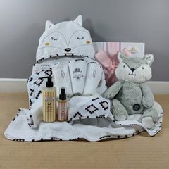 Miss Fox Baby Girl Bath Hamper