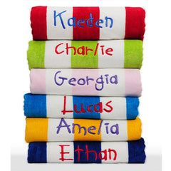 Kids Personalised Beach Towel