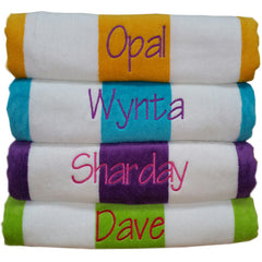 Big Day on the Beach - Personalised Large Plush Beach Towels
