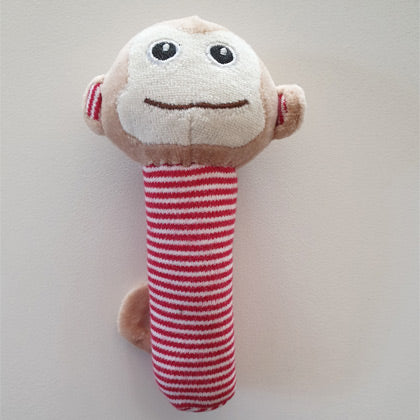 Little Monkey Striped Baby Rattle
