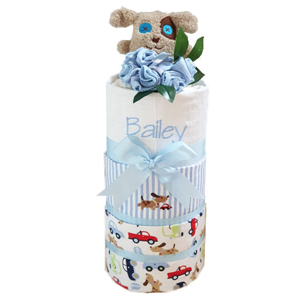 Personalised Nappy Cake My First Puppy