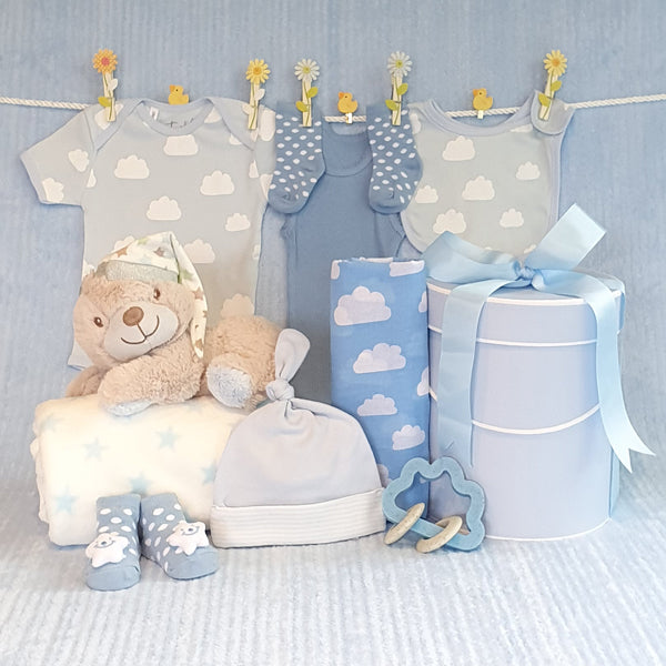 Baby Boy Gift Hamper Sleepy Bear